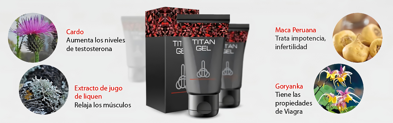 titan gel composición