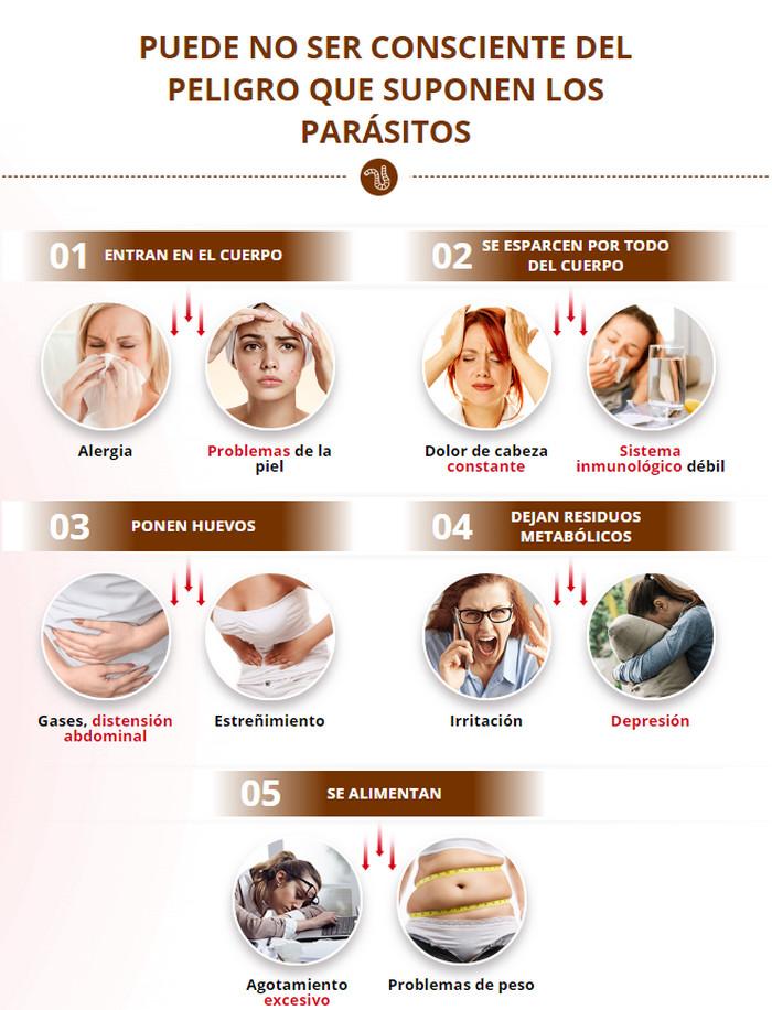 peligro que suponen los parásitos
